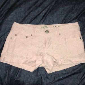Indigo Rein Baby Pink Lacey Shorts